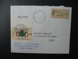 Niger   Lettre Recommandée N° 6099  - 1960  Agence Maradi   Pour La Sté Générale En France  Bd Haussmann Paris - Niger (1960-...)