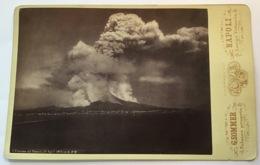 Eruzione VESUVIO 1872, NAPOLI Giorgio Sommer Albumen Print Photography (Foto Photo Italia Italy Italie Volcano Volcan - Luoghi
