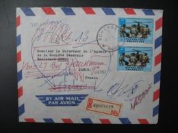 Rwanda   Lettre Recommandée N° 396 - 1960  Agence Ruhenger    Pour La Sté Générale En France  Bd Haussmann Paris - Niger (1960-...)