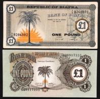 Biafra 2 Banconote 1 $ One Pound  LOTTO 2466 - Autres - Afrique