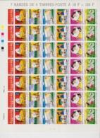 FRANCE 1 Feuille Compléte 42 T 3060 à 3065 - 7 Bandes De 6 Timbres - 1997 - Le Voyage D'une Lettre - Hojas Completas