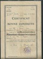 Certificat De Bonne Conduite Du 15eme Bataillon D'ouvriers D'artillerie Militaire à Nîmes (Gard) En 1928 - Dokumente