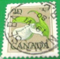 Canada 1977 Wild Flowers Cypripedium Passerinum 10 C - Used - 1952-.... Reign Of Elizabeth II