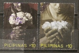 Philippines 2013 Voeux Wishes With Flowers Obl - Filippijnen