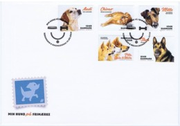 Denmark 2019;  Dogs; Set Of 5 On FDC. - FDC