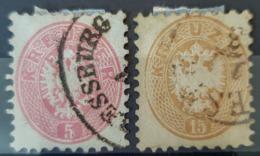 AUSTRIA - Canceled - ANK 34, 35 - 5k 15k - With PRESSBURG Stamp - Usados