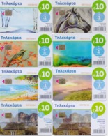GREECE PHONECARDS/OFFER!! COMPLETE YEAR 2018 OF 10 Euro PHONECARDS(8pcs)-USED - Grèce