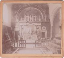 PHOTO 9,5 X 8,5 Cm (avec Son Cartonage) EGLISE DE CHAMBON SUR CISSE (41) LOIR ET CHER En 1900 !!! - Plaatsen