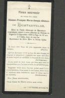 Adel - Etienne De Lichtervelde , Chateau De Gages 12 Sept 1904 - Devotieprenten