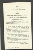 Adel - Alfred Comte  De Lichtervelde ,Bourgmestre De Gages, 2 Mars 1964 - Devotieprenten