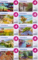 GREECE PHONECARDS/OFFER!! COMPLETE YEAR 2018 OF 4 Euro PHONECARDS(12pcs)-USED(not Include The RANCH Phonecard) - Grèce