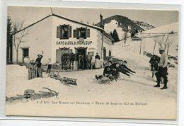 SUIISSE  LES AVANTS Sur MONTREUX Une Partie De Luge Pres CAFE Du Col De SONLOUP   No 3175 Edit J.J   -1900     D12 2019 - VD Vaud