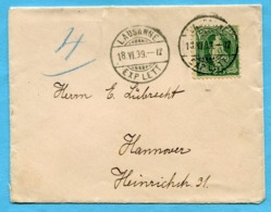 Brief Von Lausanne Nach Hannover 1899 - 1882-1906 Armoiries, Helvetia Debout & UPU