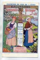 50 Chemins De Fer PUBLICITE Normandie Bretagne Ile De Jersey Mont St Michel  1910   D16 2017 - Sin Clasificación