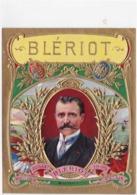 Chromo Publicitaire Gaufré Étiquette Boite Cigares  Blériot Aviation  1909  TBE - Altri