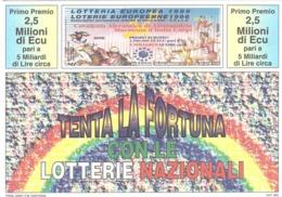 1995 £750 OFTALMOLOGIA SU CARTOLINA LOTTERIE NAZIONALI - Pubblicitari