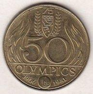 50 OLYMPICS 1906-1981 50 OLYMPICS Hockey - Tokens Of Communes