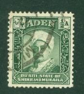 Aden - Hadhramaut: 1942/46   Sultan   SG1   ½a   Blue-green     Used - Aden (1854-1963)