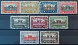 AUSTRIA 1920 - MLH - ANK 284-292 Complete Set - Parlament - 1918-1945 1ère République