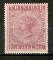 TRINIDAD 1894 5s SG 113 TOP VALUE OF THE SET PERF 14 MOUNTED MINT Cat £55 - Trinidad & Tobago (...-1961)