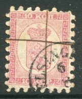 FINLAND 1860 10 Kop. Rose Roulette I, Used With Pen Cancel And Datestamp. Michel 4Ax - 1856-1917 Russian Government