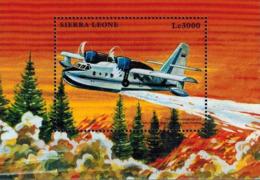 MVV-BK1-324 MINT PF/MNH ¤ SIERRA LEONE BLOCK ¤ AIRPLANES - FIRE PLANE - Vliegtuigen