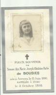 Adel  -Simone De Bousies - 1890 - 1898 - Devotieprenten