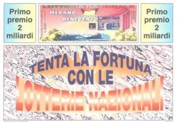 1995 £750 SUSA SU CARTOLINA LOTTERIE NAZIONALI - Pubblicitari