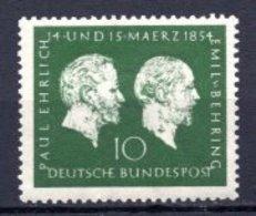 1954 GERMANY EHRLICH - BEHRING MICHEL: 197 MLH * - Unused Stamps
