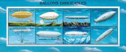 MVZ-BK26-599 MWW MINT PF/MNH ¤ GUINEE 8w In Serie ¤ BALLONS DIRIGEABLES - ZEPPELINS - Zeppelins