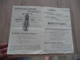 Pub Publicité Incomplète Moto Motocyclette 175 Harlette Géco - Motos