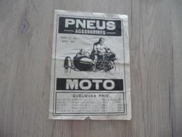 Pub Publicité Moto Motocyclette 3 Volets  Etats Auto Accessoires Paris Side Car - Motos