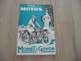 Pub Publicité Moto Motocyclette Dépliant 2 X A4 Environs Les Motos Monet Et Goyon - Motos