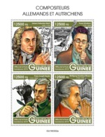 GUINEA 2019 - J.S. Bach, F. Schubert, F.J. Haydn, W.A. Mozart. Official Issue - Musique