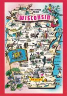 ETATS-UNIS--WISCONSIN--greetings From Wisconsin---multi-vues--voir 2 Scans - Madison