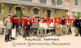 Reproduction D'une Photographieancienne D'une Affiche Publicitaire Clipper Continental Pneumatic Maurice Farman De 1900 - Repro's
