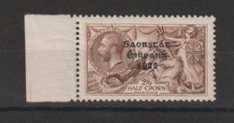 Irlande 1922  2/6 Brun Surchargé 37 ** MNH - 1922-37 État Libre D'Irlande