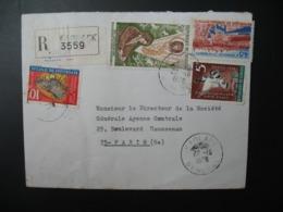 Sénégal  Lettre Recommandée N° 3559 - 1978  Agence Kaolack    Pour La Sté Générale En France  Bd Haussmann Paris - Sénégal (1960-...)