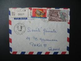 Sénégal  Lettre Recommandée N° 0601 - 1978  Agence Kaolack    Pour La Sté Générale En France  Bd Haussmann Paris - Sénégal (1960-...)