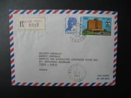 Sénégal  Lettre Recommandée N° 6922 - 1978  Agence Dakar Yoff   Pour La Sté Générale En France  Bd Haussmann Paris - Sénégal (1960-...)