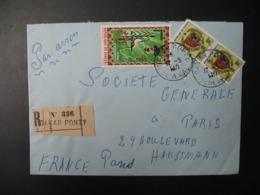 Sénégal  Lettre Recommandée N° 336 - 1971  Agence Dakar Ponty  Pour La Sté Générale En France  Bd Haussmann Paris - Sénégal (1960-...)