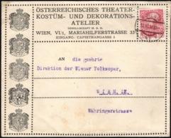 Austria - 'Österreichische Theater Kostüm Und Dekorations Atelier' Brief, WIEN 12.12.1912. - 1850-1918 Imperium