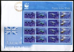 Tuvalu 2006 WWF Pygmy Killer Whale Fish Marine Life Animal Sc 1022 Sheetlet FDC # 15153 - FDC