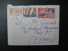 Sénégal  Lettre Recommandée N° 197 - 1973  Agence Rufisque  Pour La Sté Générale En France  Bd Haussmann Paris - Sénégal (1960-...)