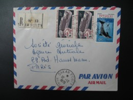 Sénégal  Lettre Recommandée N° 12 - 1970  Agence Dakar Ponty  Pour La Sté Générale En France  Bd Haussmann Paris - Sénégal (1960-...)