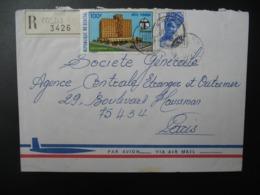 Sénégal  Lettre Recommandée N° 3426 - 1973  Agence Kolda  Pour La Sté Générale En France  Bd Haussmann Paris - Sénégal (1960-...)