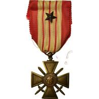 France, Croix De Guerre, Une Etoile, Médaille, 1939, Excellent Quality, Bronze - Altri