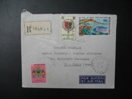 Sénégal  Lettre Recommandée N° 1858 - 1970  Agence Dakar  Pour La Sté Générale En France  Bd Haussmann Paris - Sénégal (1960-...)