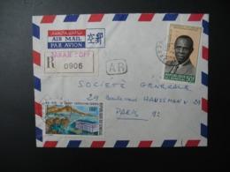 Sénégal  Lettre Recommandée N° 0906 - 1971  Agence Dakar Yofi  Pour La Sté Générale En France  Bd Haussmann Paris - Sénégal (1960-...)