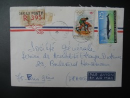 Sénégal  Lettre Recommandée N° 395   Agence Dakar Ponti   Pour La Sté Générale En France  Bd Haussmann Paris - Sénégal (1960-...)